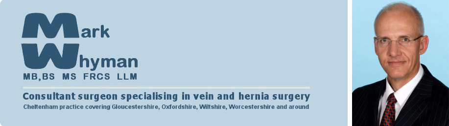 Mark Whyman Vein and hernia surgeon logo